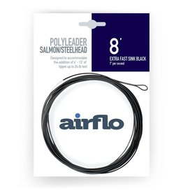Airflo Airflo Salmon/Steelhead Poly Leader 8' Extra Fast Sink Black 7ips