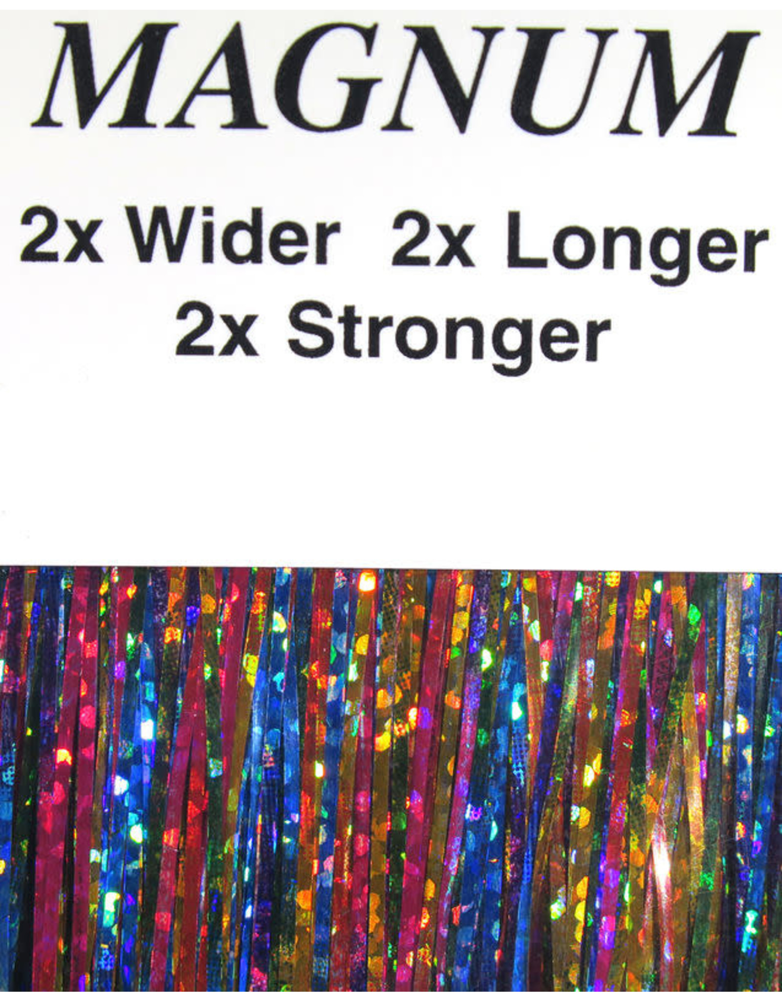 Hareline MAGNUM Holographic Flashabou - 3279 Bright Rainbow