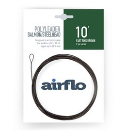 Airflo Airflo Salmon/Steelhead Poly Leader 10' Fast Sink Brown 3ips