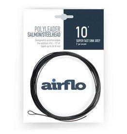 Airflo Airflo Salmon/Steelhead Poly Leader 10' Super Fast Sink Grey 5ips