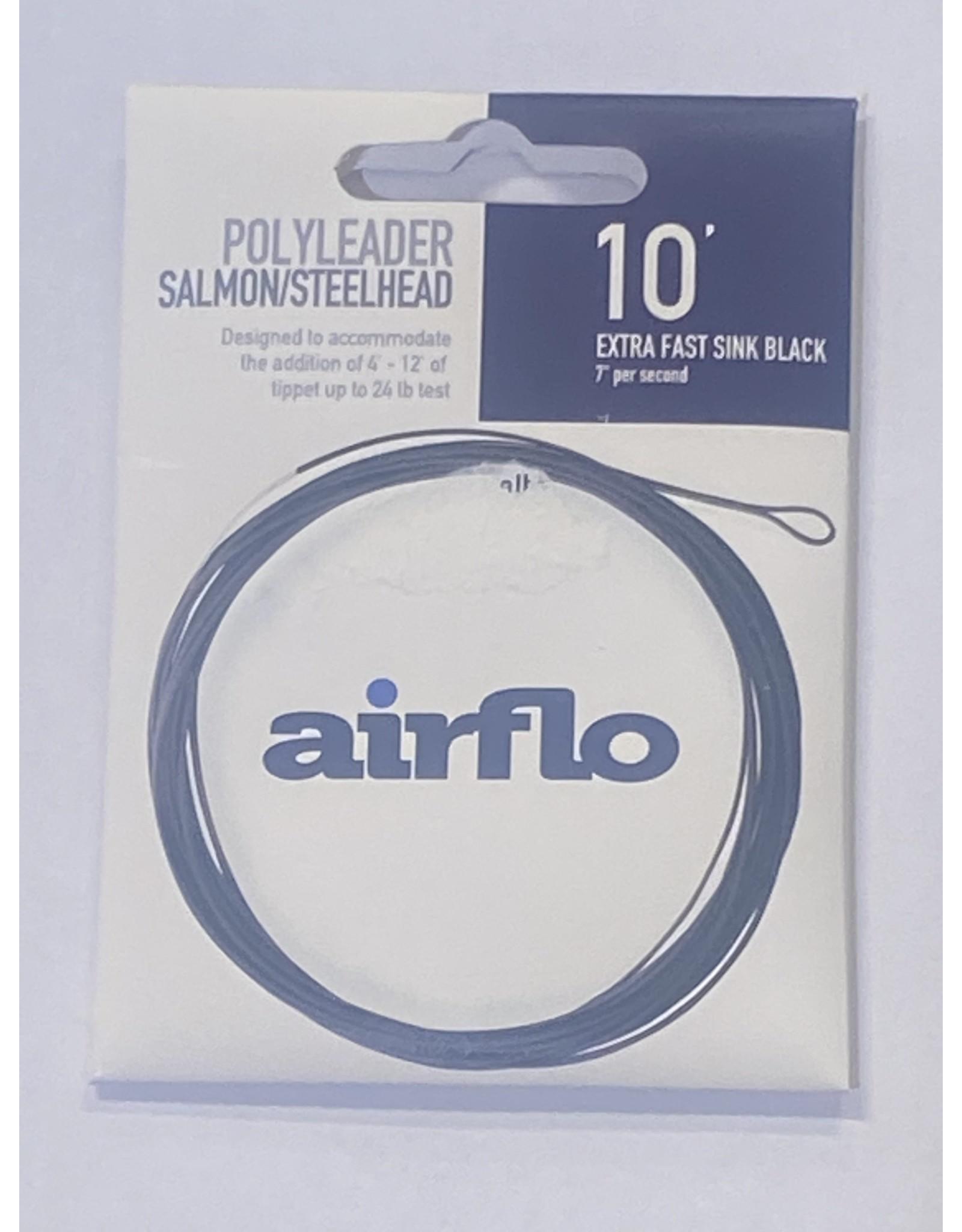 Airflo Airflo Salmon/Steelhead Poly Leader 10' Extra Fast Sink Black 7ips