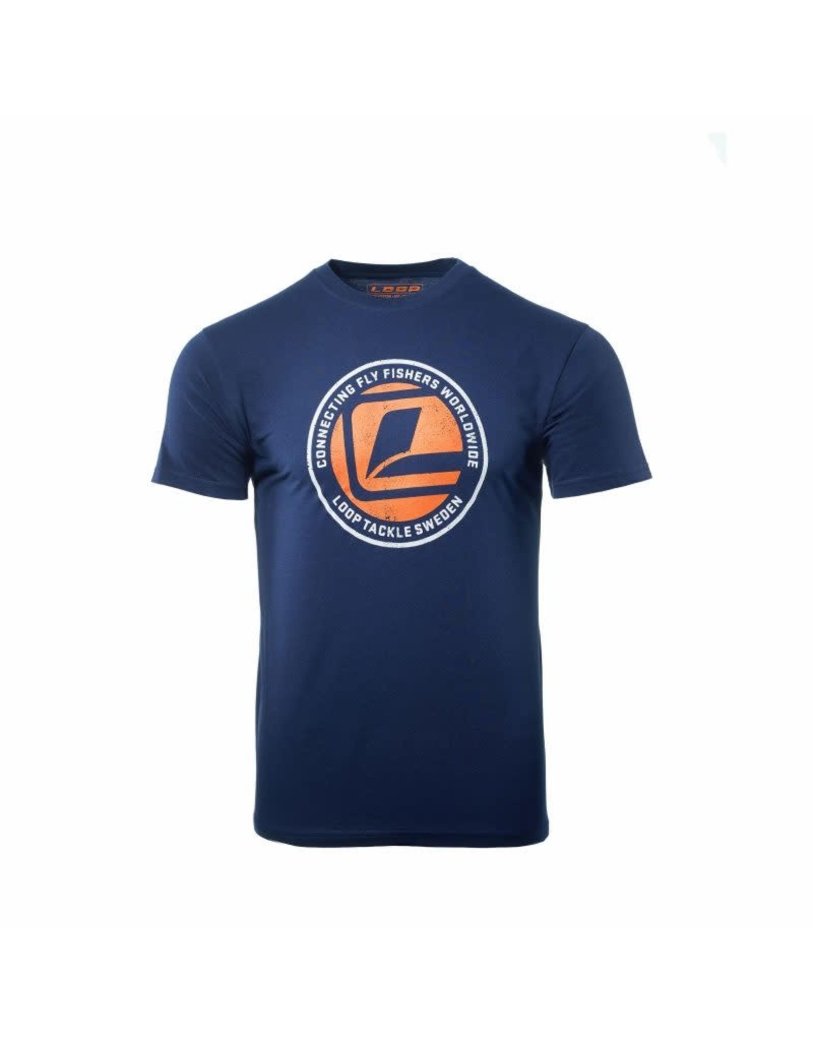 LOOP Connecting L Logo T-Shirt Navy - 2XL