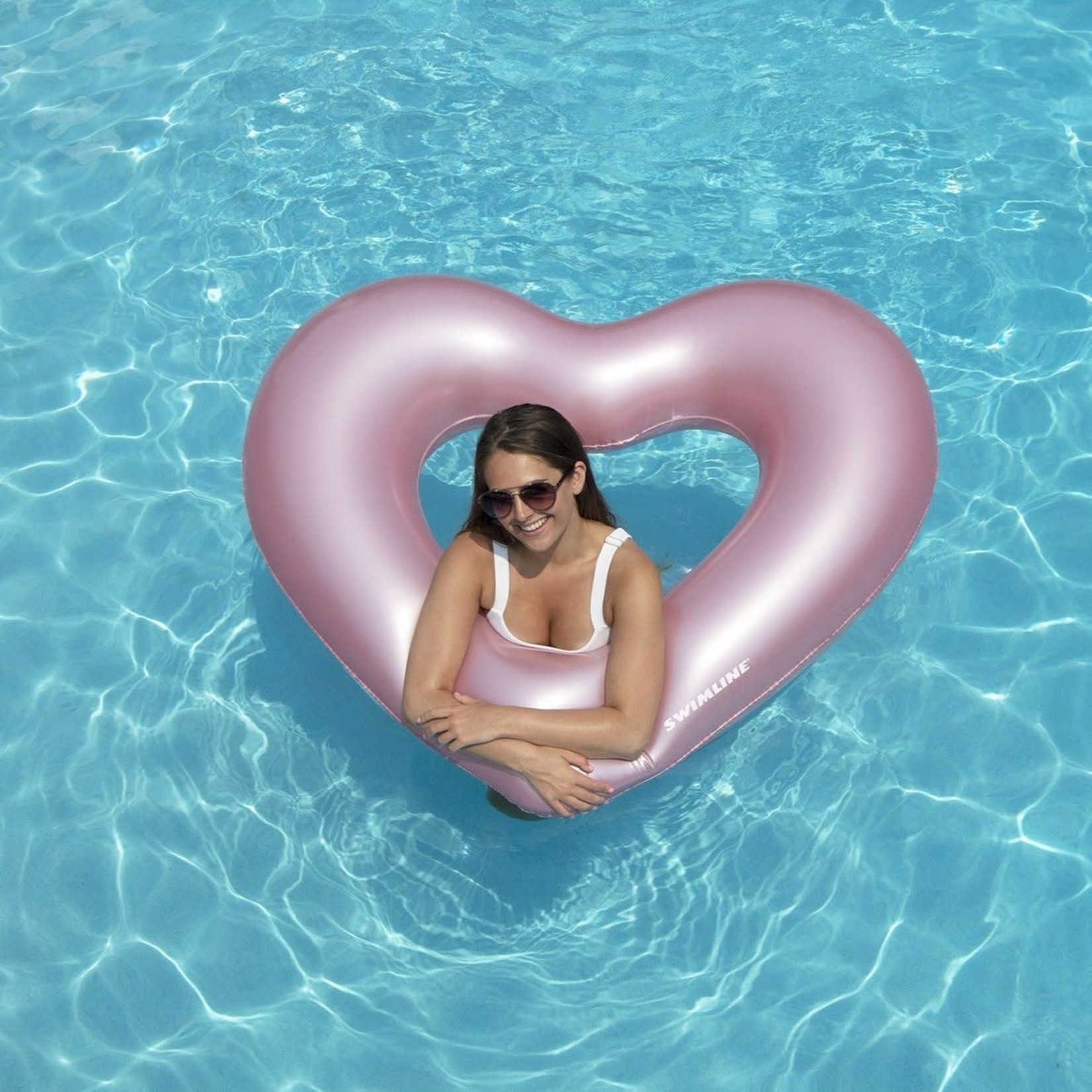 Swimline INFLATABLE METALLIC HEART