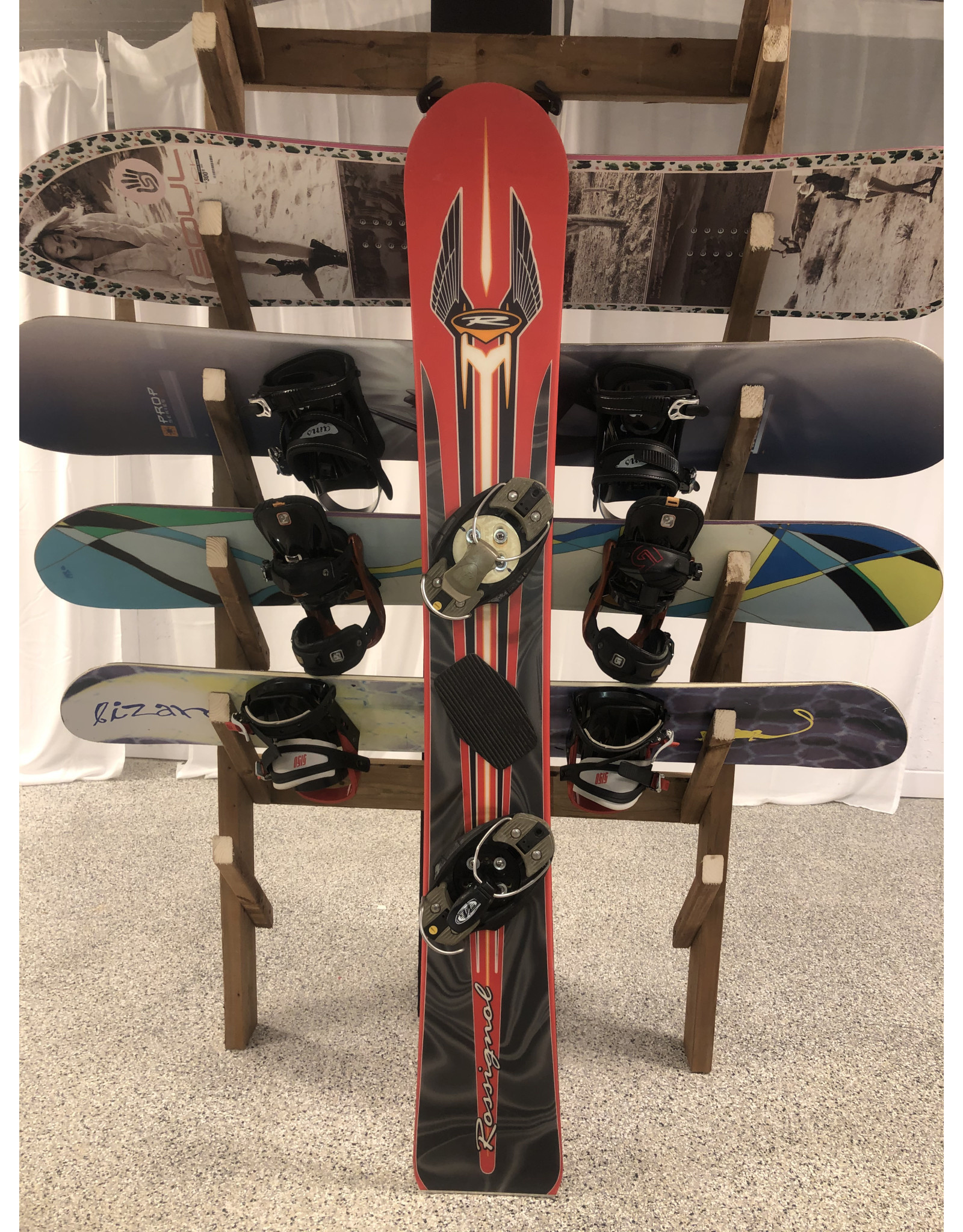 Various Rossignol Race Snowboard  166 and binding