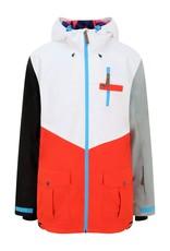 OOSC Fresh Pow Men's Ski Snowboard Jacket – White, Red