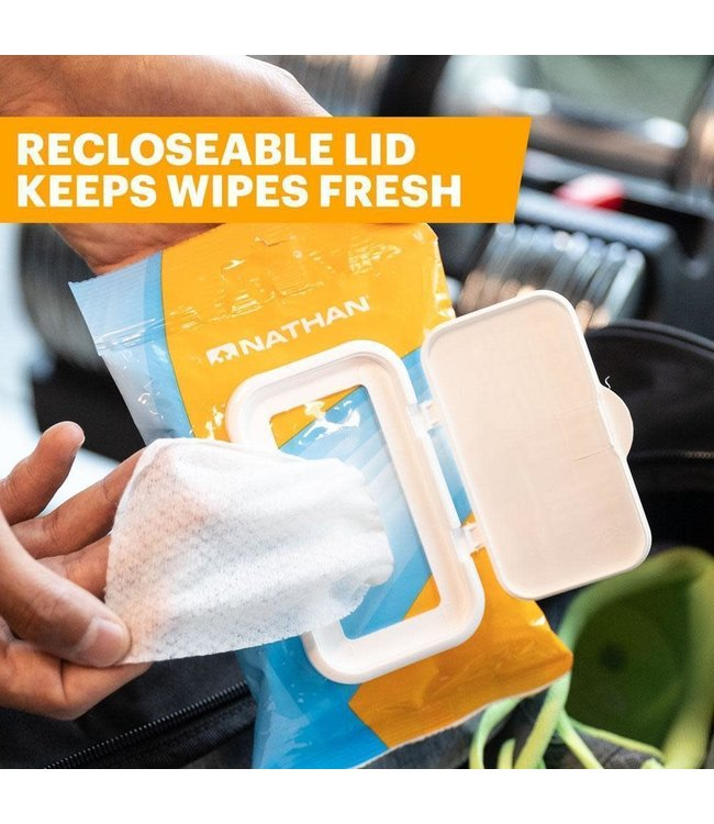 Nathan Sports Power Shower Wipes