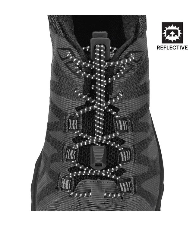 Nathan Sports Reflective Run Laces Locking Shoe Laces