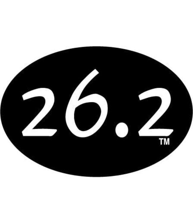 Baysix 26.2 Oval Magnet (Black)