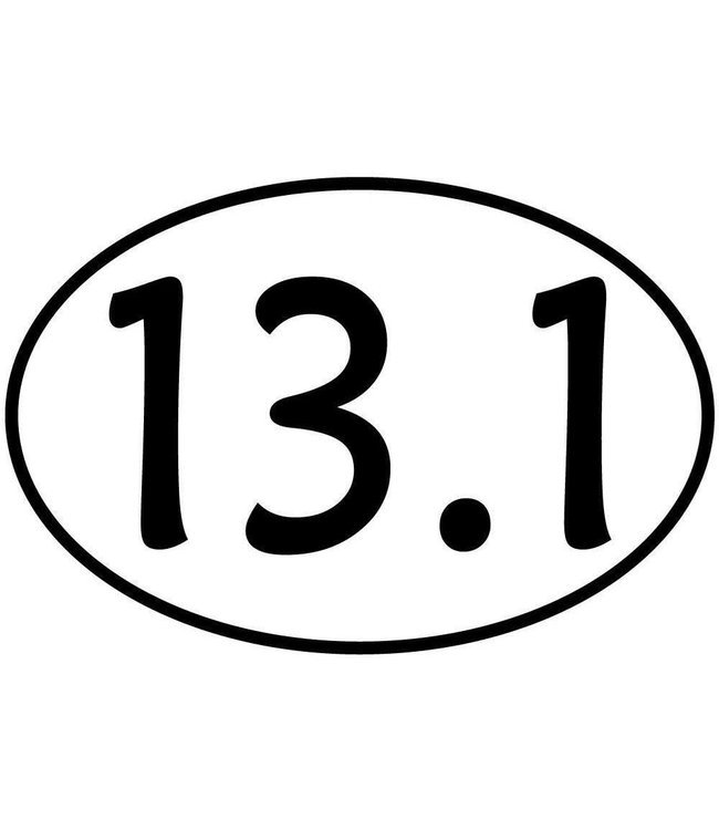 Baysix 13.1 Oval Decal (White with Black Print)