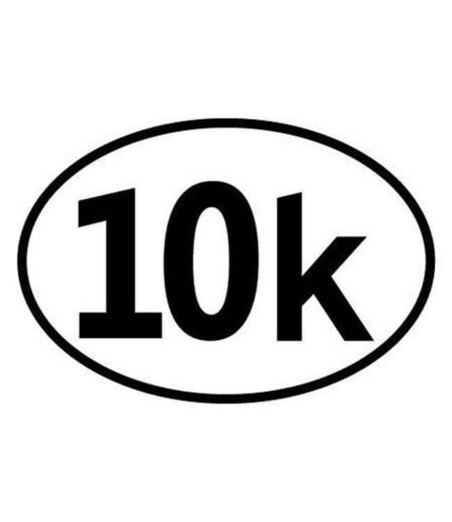 Baysix 10k Oval Decal (White with Black Print)