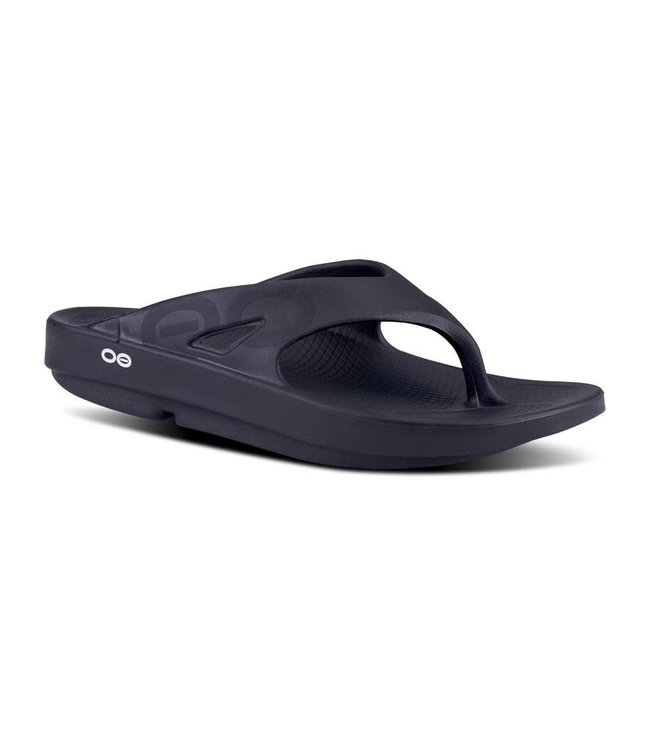Oofos Men's OOriginal Sport Sandal (thong) - Black