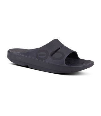 Oofos Men's OOahh Sport Slide Sandal - Matte Black
