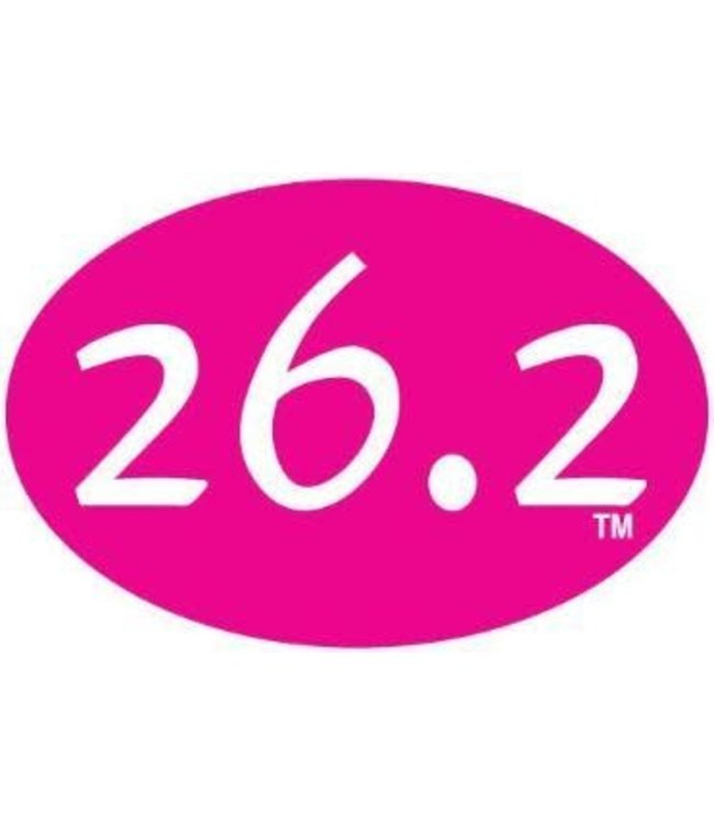 Baysix 26.2 Oval Magnet (Pink)