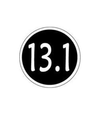 Baysix 13.1 Mile Round Decal (Black)
