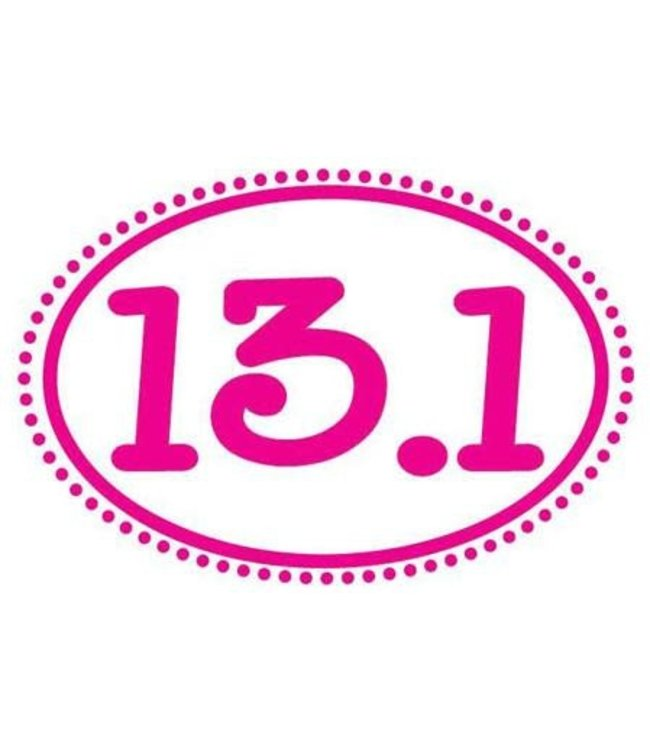 Baysix 13.1 Oval Magnet (Pink Dots)