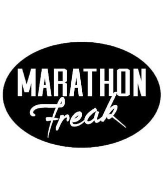 Baysix Marathon Freak Oval Magnet (Black with White)