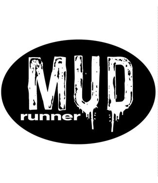 Baysix Mud Runner Oval Magnet (Black)