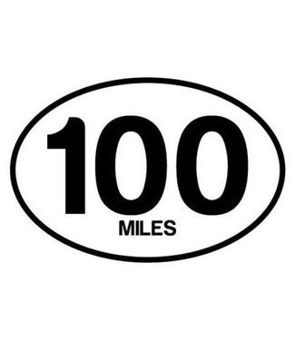 Baysix 100 Mile Oval Magnet (white with black)