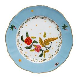 BITOSSI Bitossi Dinner Plate, Blue and Red Fiore
