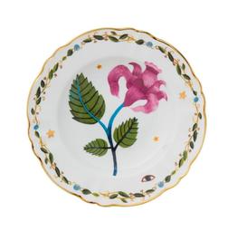 BITOSSI Bitossi Deep Plate, Pink Flower