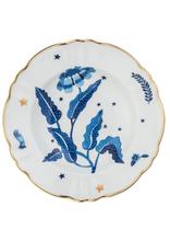 BITOSSI Bitossi Deep Plate Blue Flower