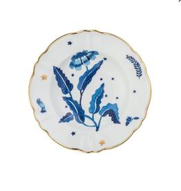 BITOSSI Bitossi Deep Plate, Blue Flower
