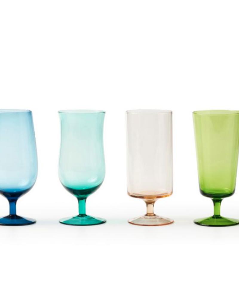 BITOSSI Bitossi Set of Beer Glasses Asst Colors