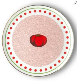 BITOSSI Bitossi Round Platter, Tomato