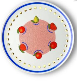 BITOSSI Bitossi Round Platter, Citrus