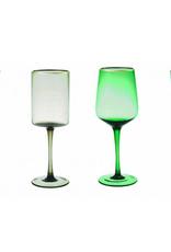 BITOSSI Bitossi Set of 6 Goblet Blu/Verde Gold Rim