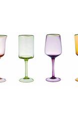 BITOSSI Bitossi Set of 6 Goblet Nuance Ambra/Rosa Gold Rim