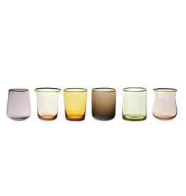BITOSSI Bitossi Glass Tumblers, Amber/Rose, Set of 6