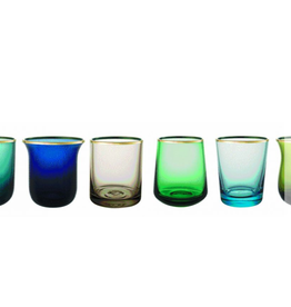 BITOSSI Bitossi Glass Tumblers, Blue/Green, Set of 6