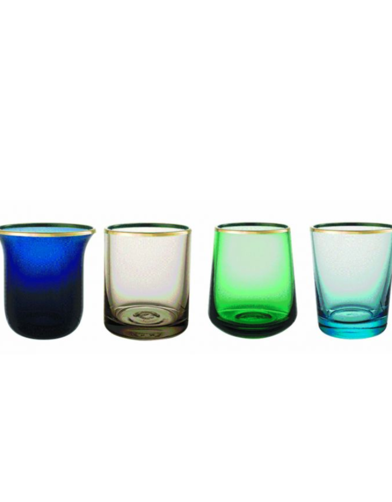 BITOSSI Bitossi Set of 6 Tumblr Nuance Blu/Verde Gold Rim
