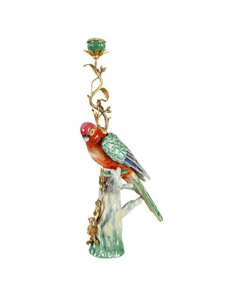 &Klevering &Klevering Parrot candle holder brass