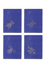 &Klevering &Klevering Napkins midnight beetle set of 4