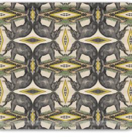 Elephants Rectangle Birch Wood Tray