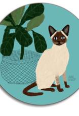 Avenida Cats Seal Point Siamese Coaster