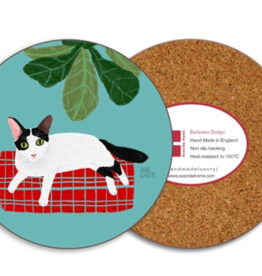 Avenida Home Oreo Cat Coaster