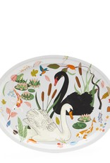 Avenida Swan Lake Oval Birch Wood Tray