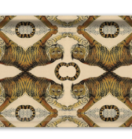Tiger Retangular Birch Wood Tray