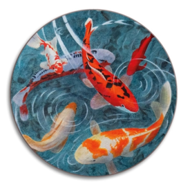 Avenida Home Avenida Pond of Koi Coaster