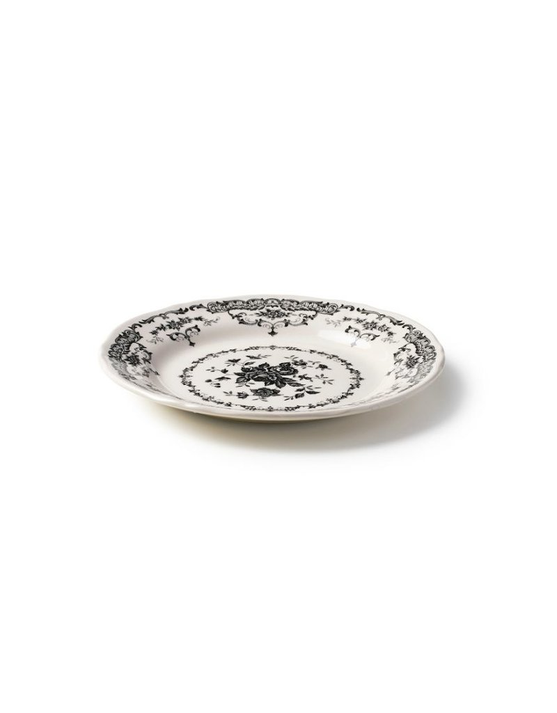 BITOSSI Bitossi Salad Plate Rose Black  (Ironstone)
