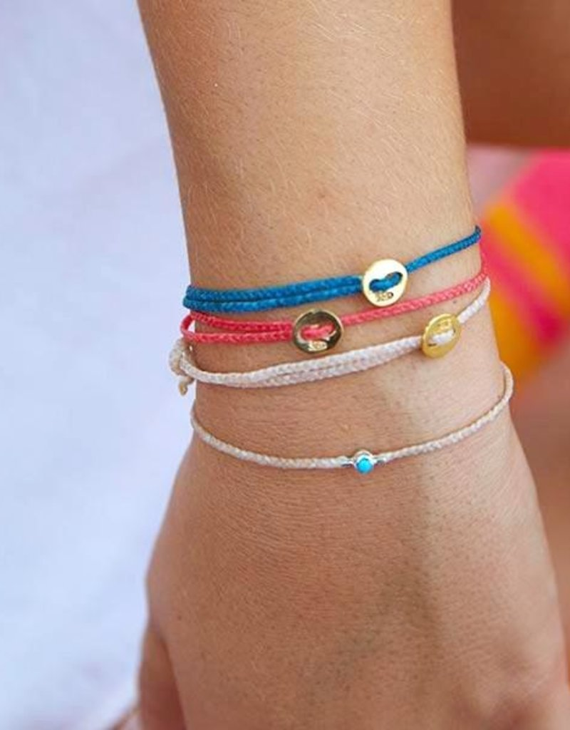 Scosha Scosha Bezel Bracelet Pink w/ Turquoise