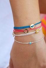 Scosha Scosha Bezel bracelet black w/ ruby