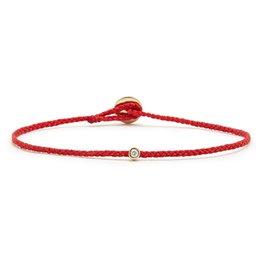 Scosha Scosha Bezel Bracelet, Diamond and Scarlet