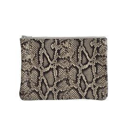 Tracey Tanner Tracey Tanner Medium Exotic Zip, Faux Snakeskin Oatmeal