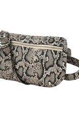 Tracey Tanner Tracey Tanner Exotic Fanny Pack - Faux Snakeskin Oatmeal