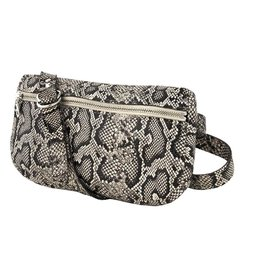 Tracey Tanner Tracey Tanner Exotic Fanny Pack, Faux Snakeskin Oatmeal