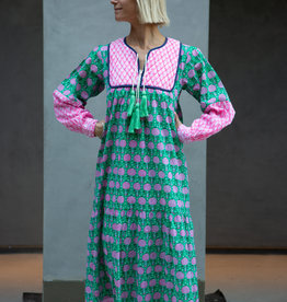 SZ Blockprints SZ Jodhpur Dress, Pineapple Mint - Medium